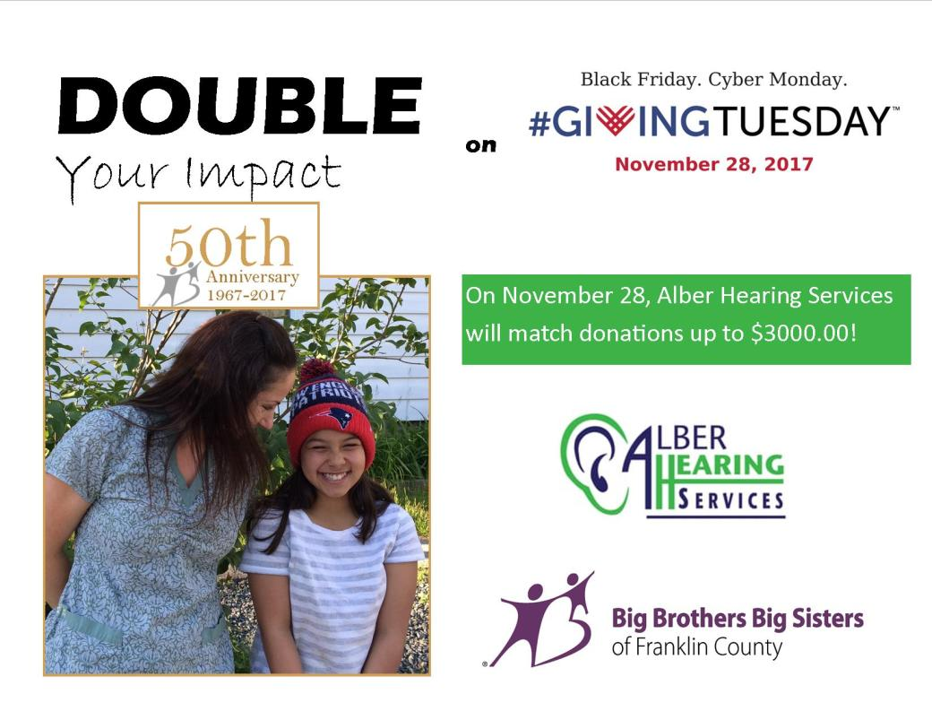 2017 Giving Tuesday Matching Donor Flyer
