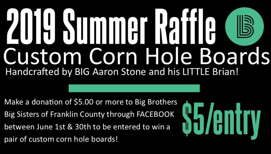 2019 Corn Hole Raffle Header